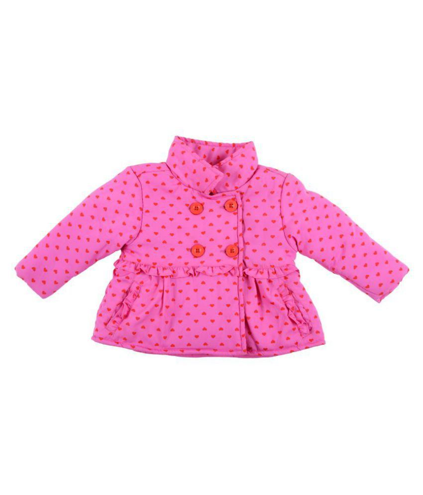 Kidsdew Pink Cotton Blend Jacket