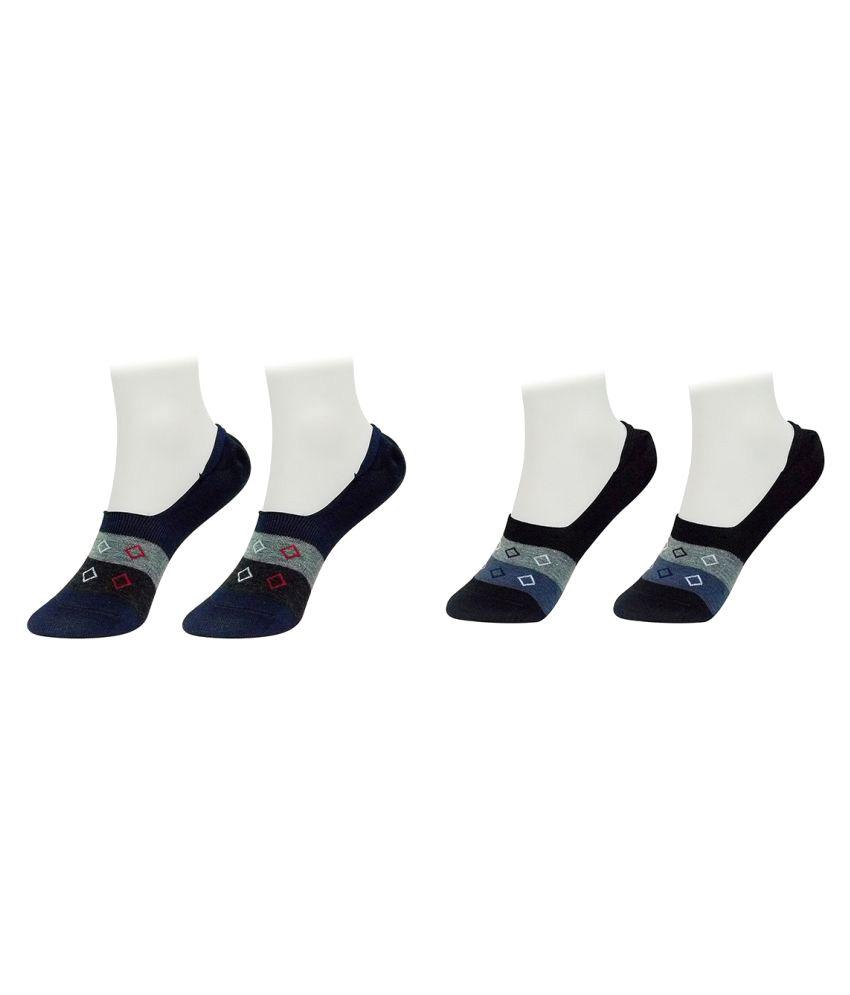 Gold Dust Multicolour Footies Socks - 2 Pair