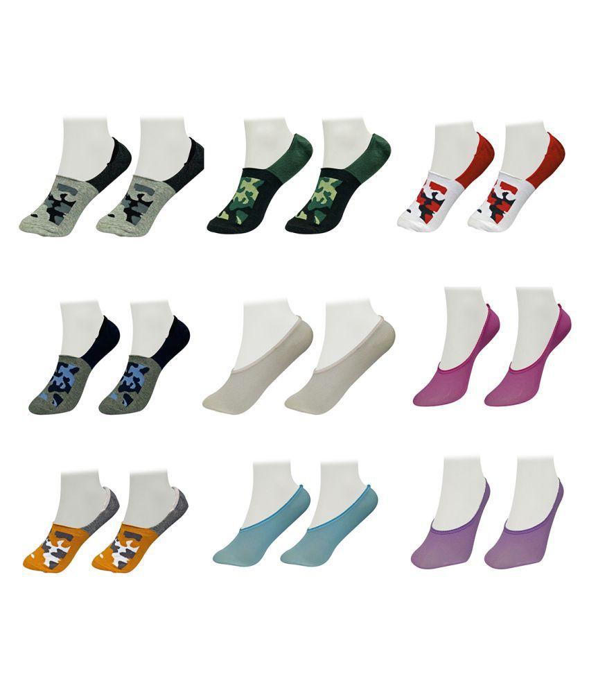 Gold Dust Multicolour Footies Socks Pair of 9