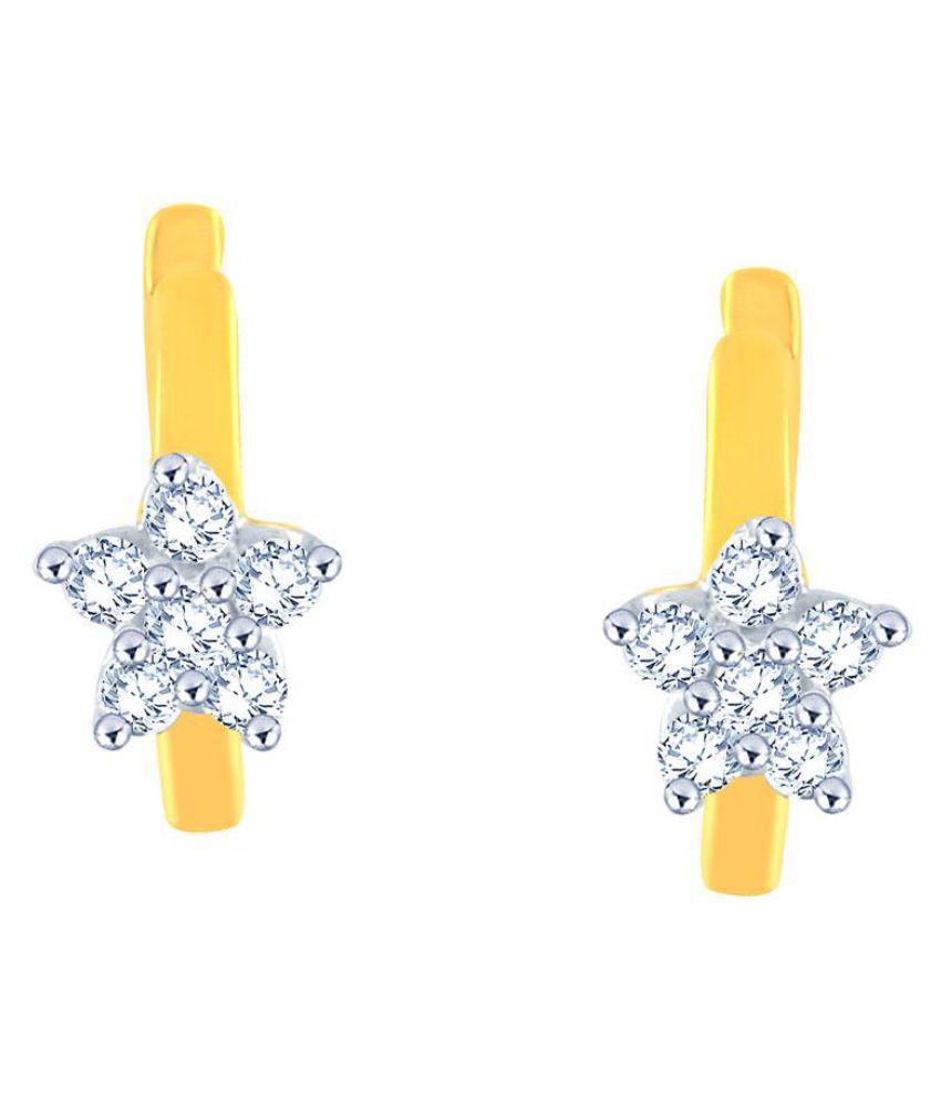 Nakshatra 18k BIS Hallmarked Yellow Gold Diamond Balis