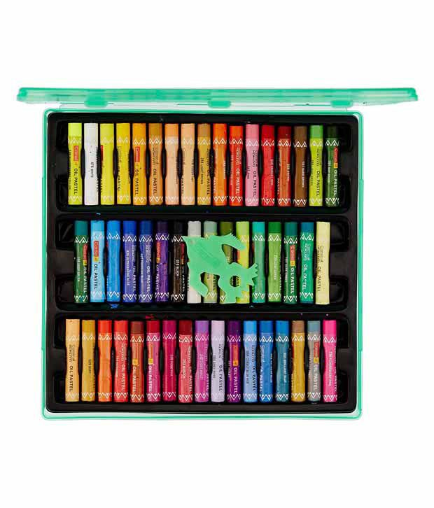 Camlin Oil Pastel Reusable Plastic Pack 50 Shades