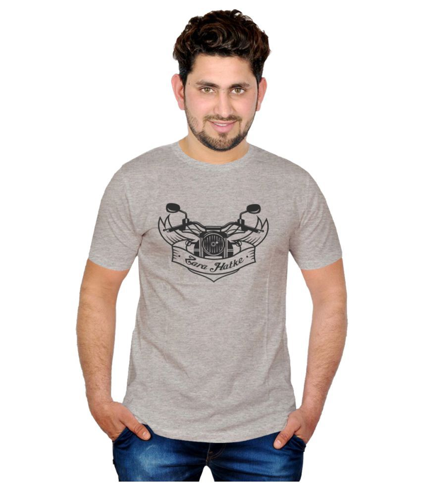 Inkit Grey Round T-Shirt