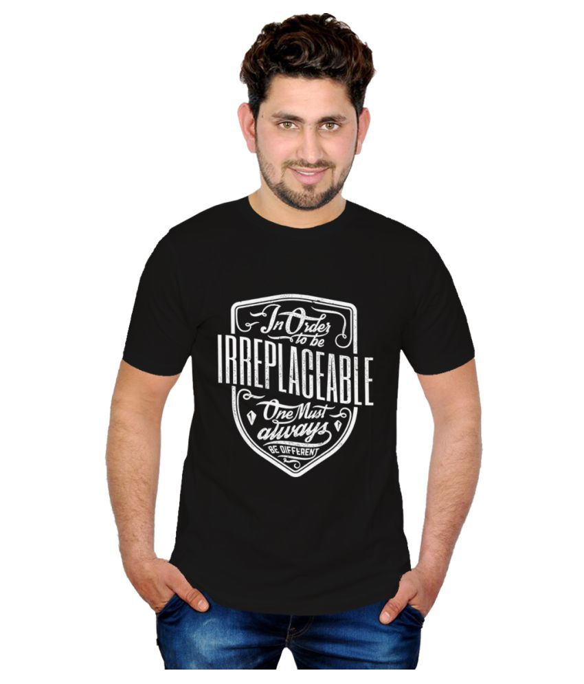 Inkit Black Round T-Shirt