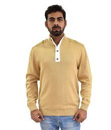 Oldberri Beige High Neck Sweater