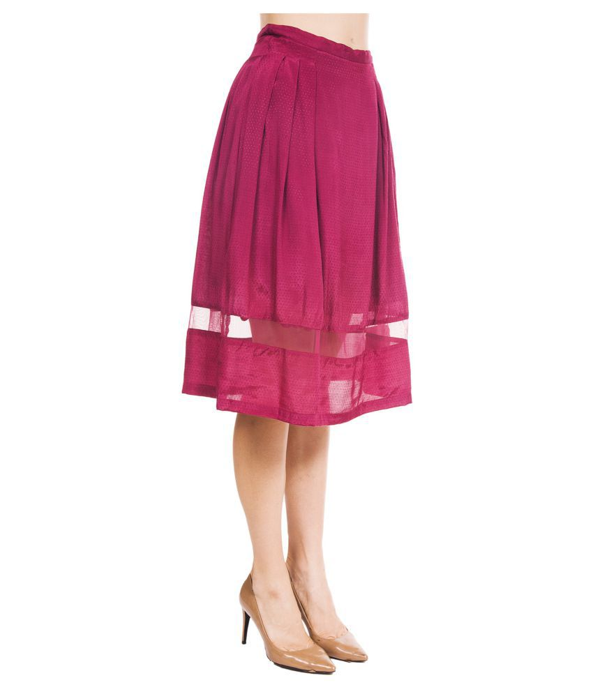 1eaa9a1ff8a0 Buy 9teenagain Rayon Pleated Skirt Online at Best Prices in India - Snapdeal
