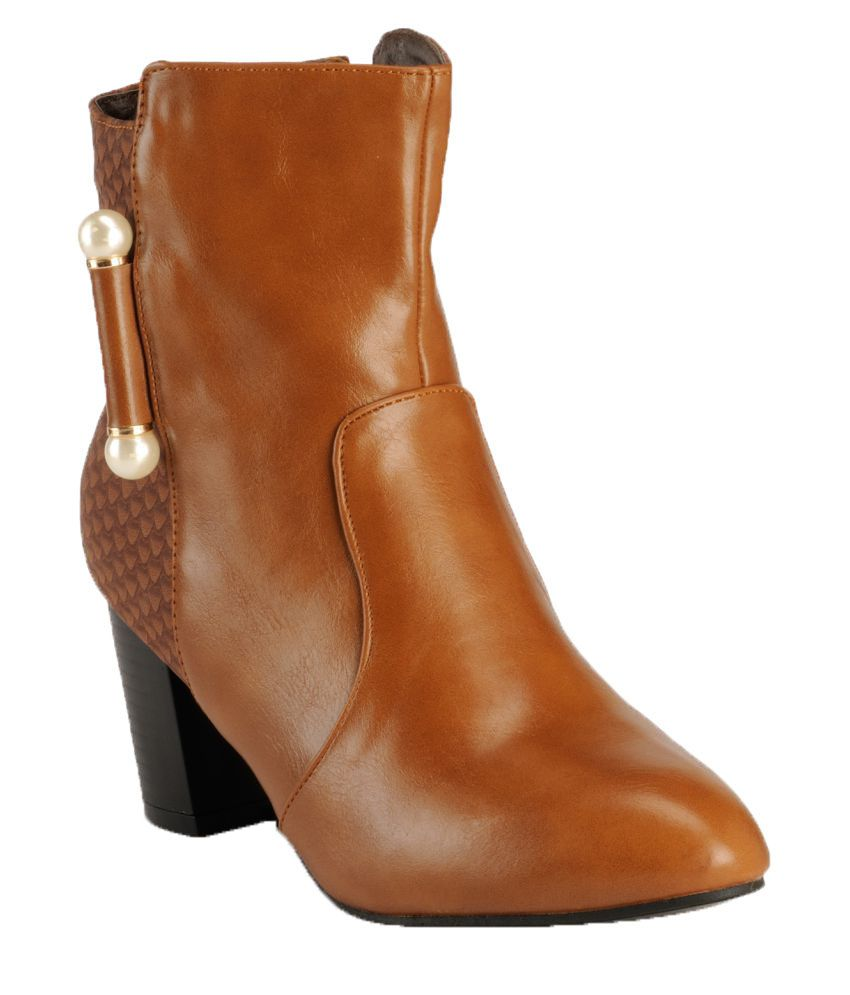 Nell Tan Mid Calf Bootie Boots