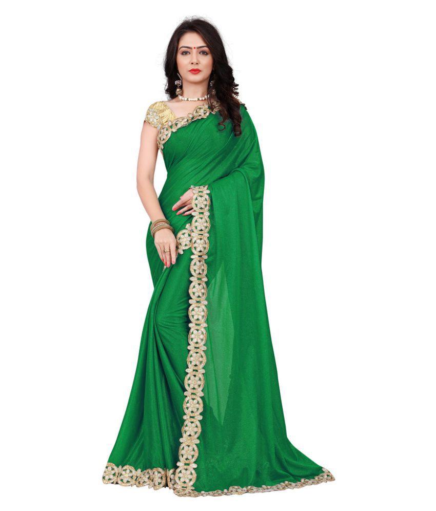 Fashion Gallery Green Lycra Saree