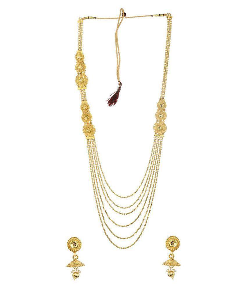 Fashions 24x7 Golden Necklace Set