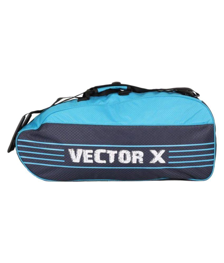 Vector X Blue Duffle bag with shoulder strap Badminton Kit Bag