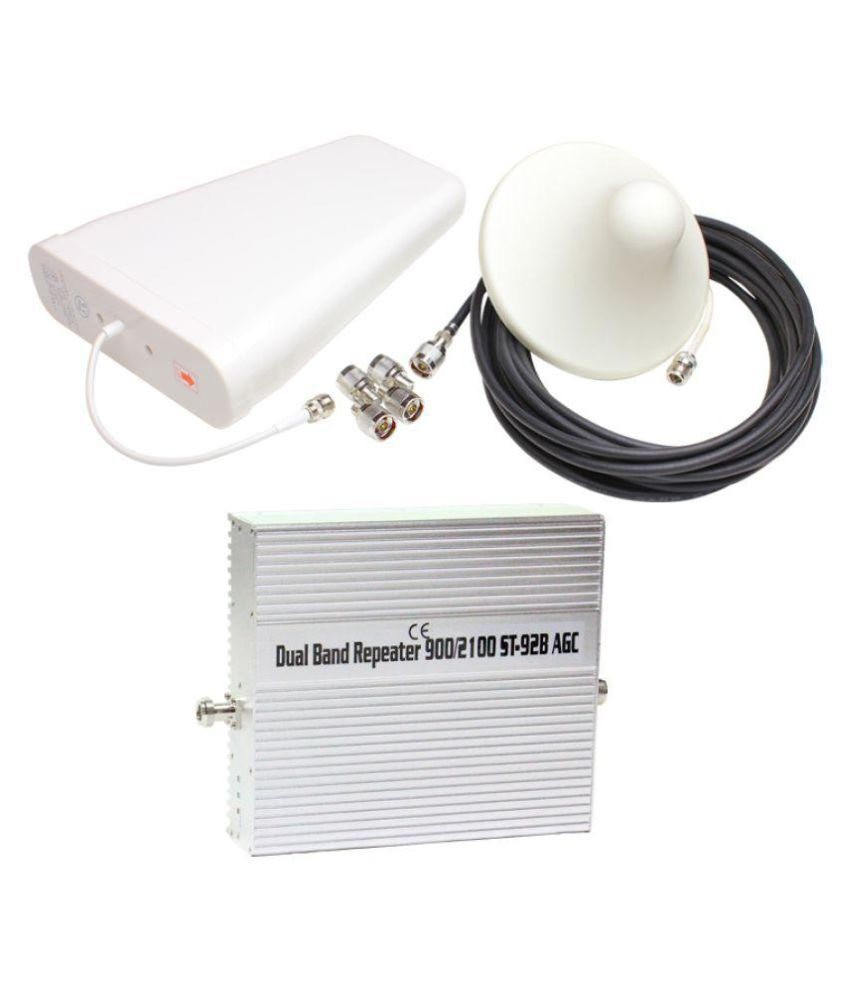 Lintratek ST-92B 3G + 4G Mobile Cell Phone Signal Booster 3200 RJ11 White