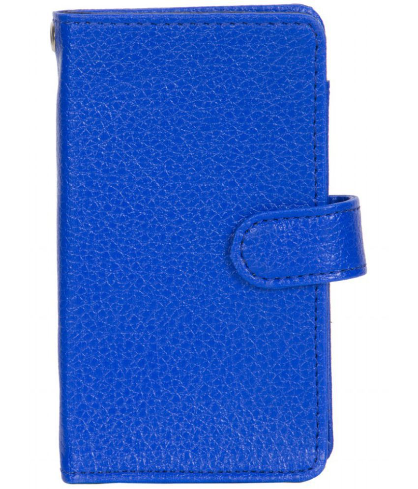 Micromax A110Q Holster Cover by Senzoni - Blue