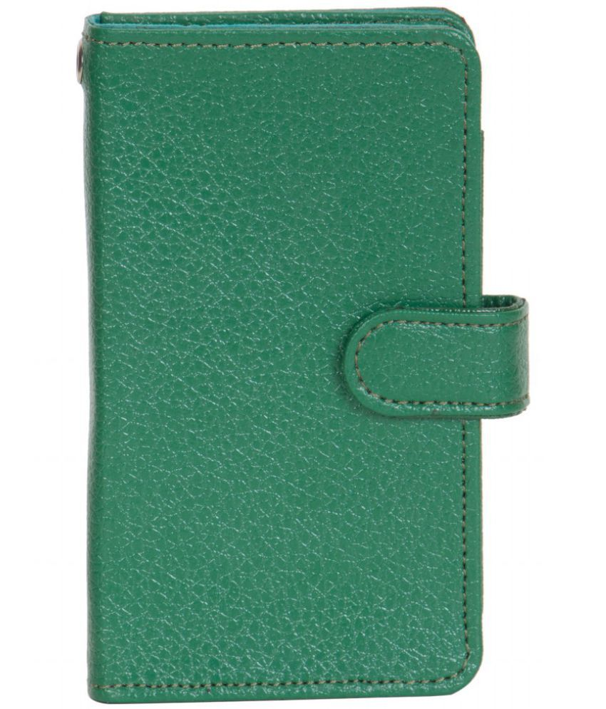 Micromax Canvas Blaze 4G Q400 Holster Cover by Senzoni - Green