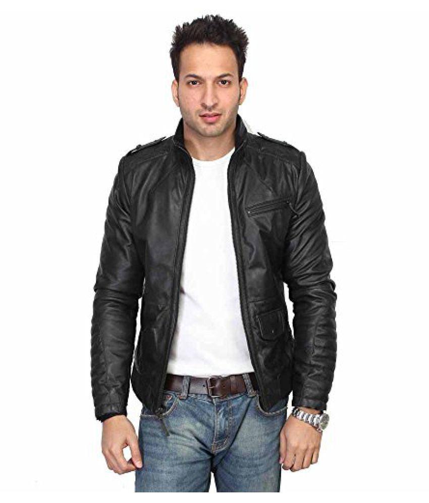 a0f069d53c7 Bareskin Black Leather Jacket - Buy Bareskin Black Leather Jacket ...
