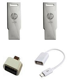 HP v232w 16GB USB 2.0 Utility Pendrive with OTG Cable and Adapter