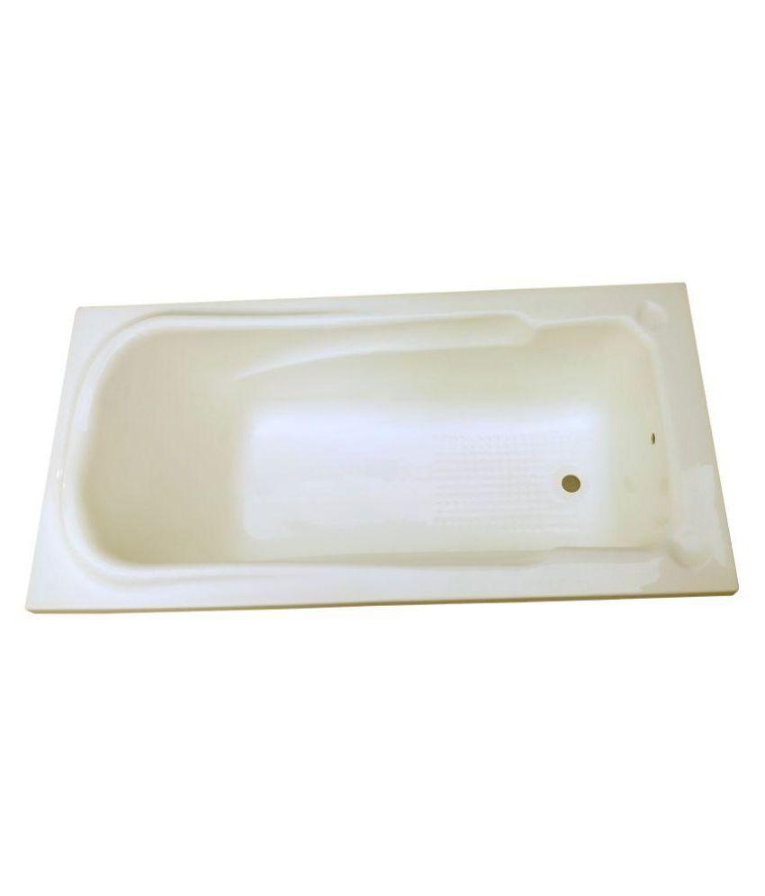 Madonna Splenour Acrylic Fixed Bath Tub - Ivory