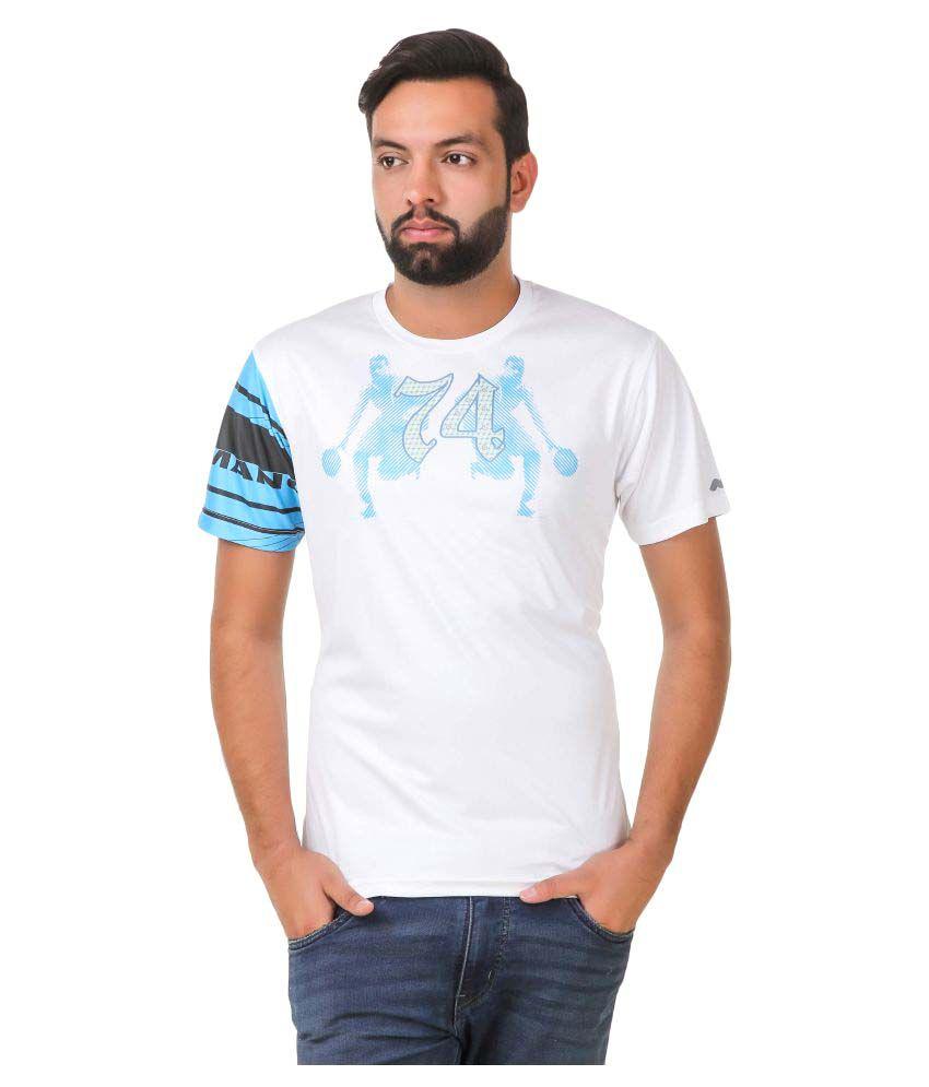 Spunk White Round T-Shirt