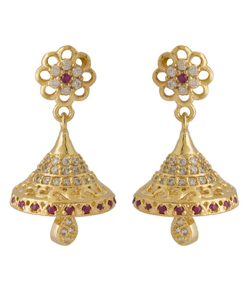 Voylla Golden Brass Earrings Single Pair
