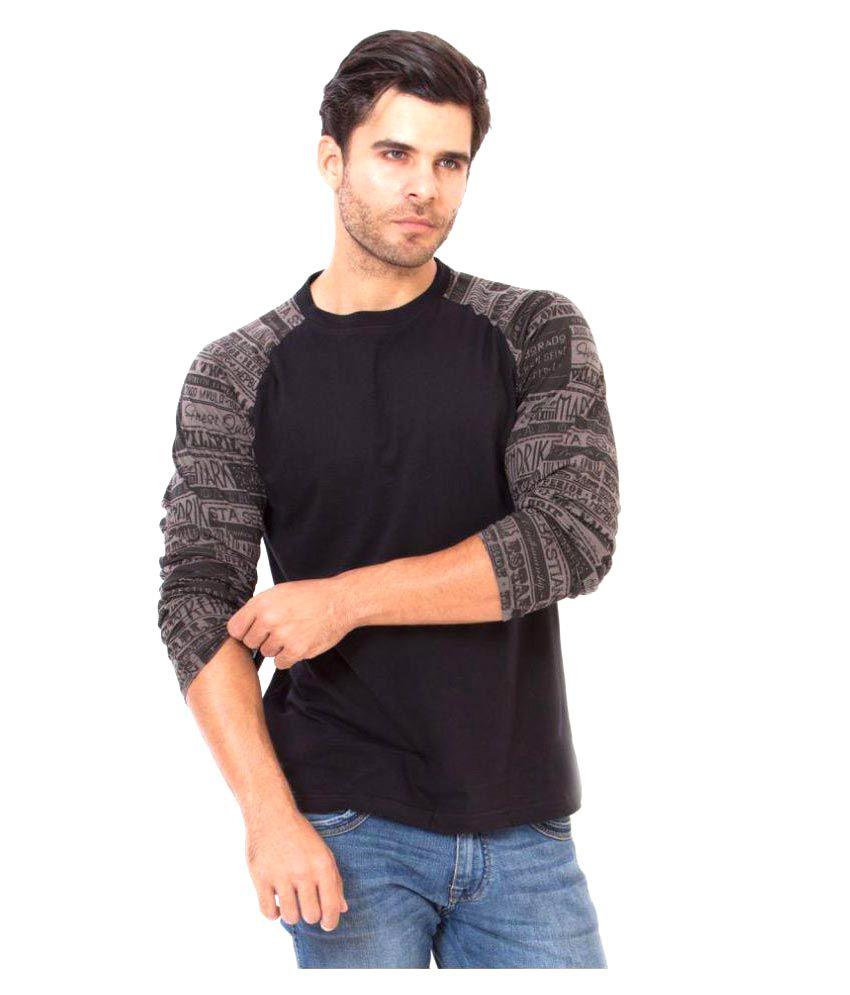 Elaborado Black Round T-Shirt
