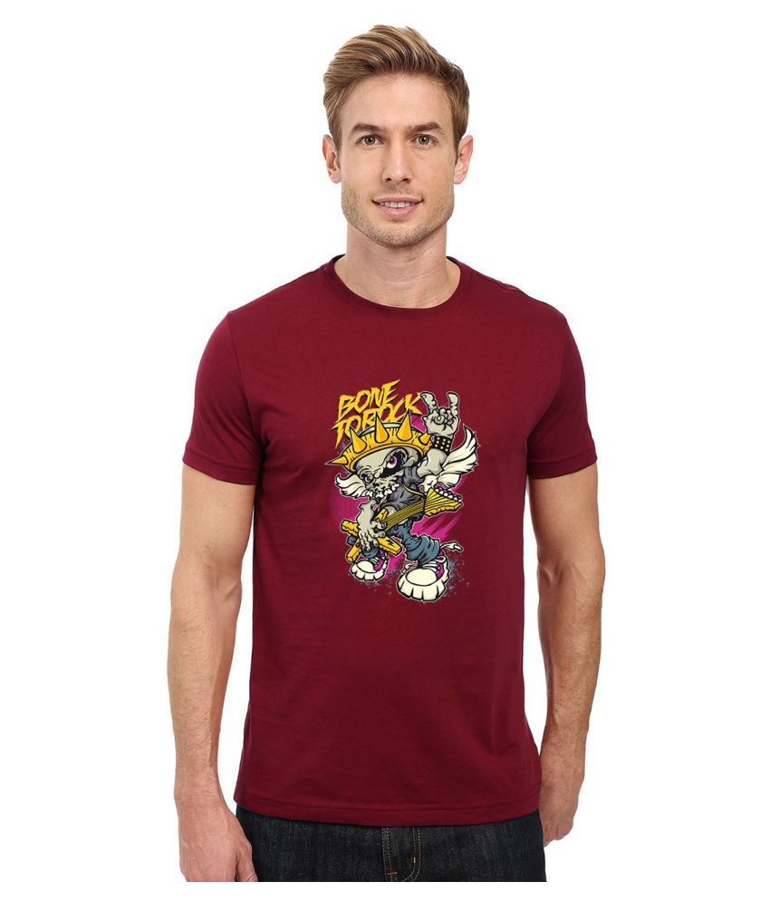 Redfool Fashions Maroon Round T-Shirt
