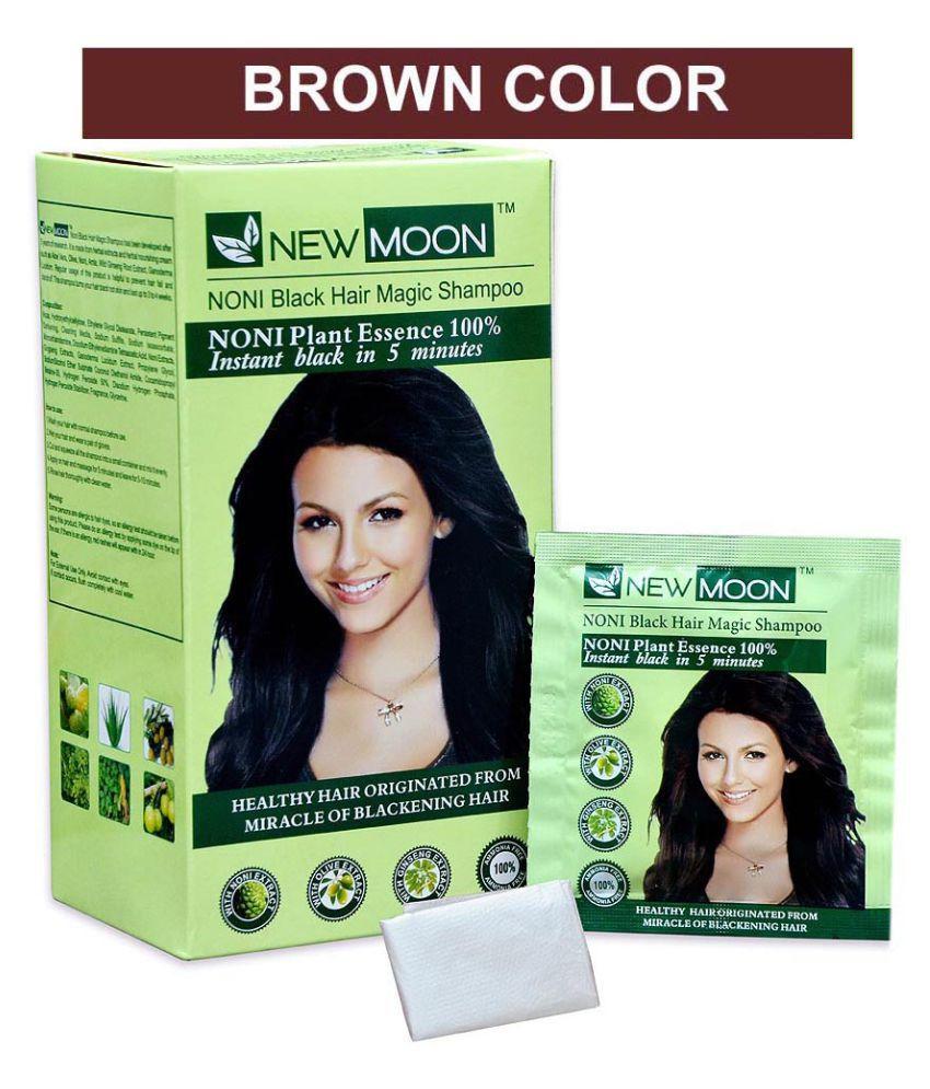 New Moon Brown Hair Color Noni magic black hair colour shampoo ...