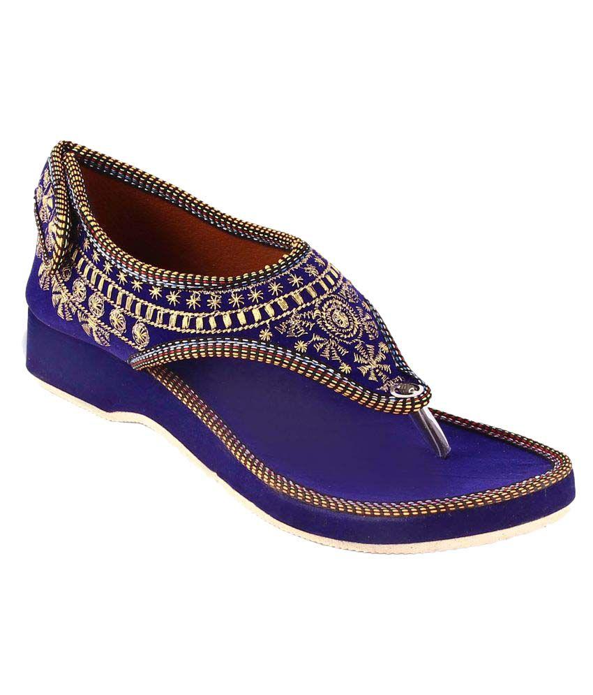 Khushfashions Purple Wedges Heels