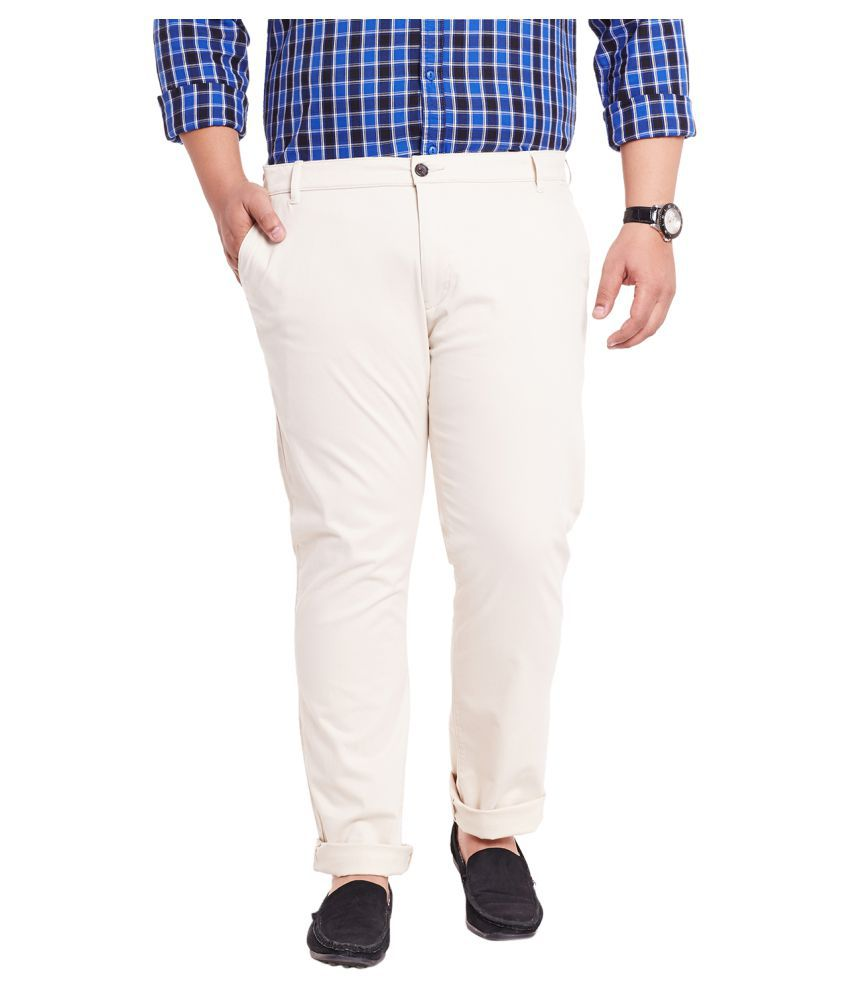 Mike & Smith Beige Slim Flat Trousers