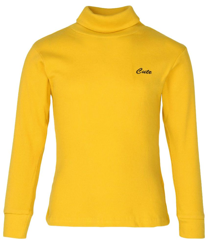 Poppers By Pantaloons Yellow Sweatshirt