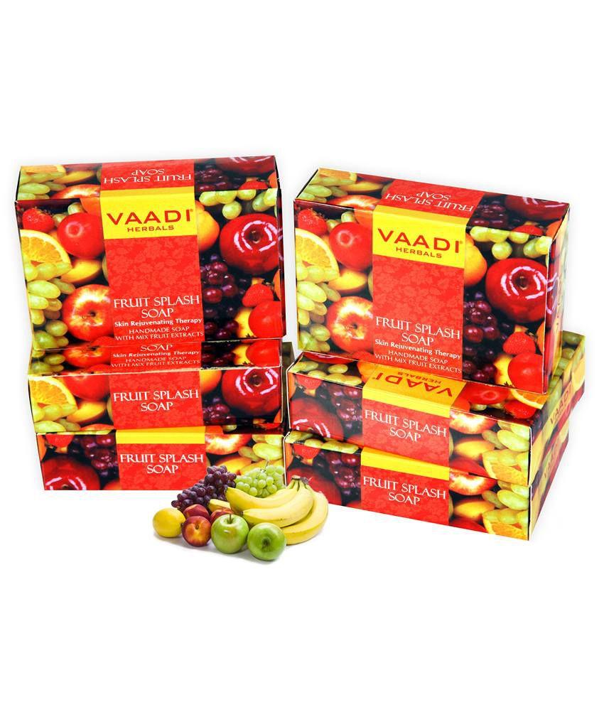 Fruit splash 2 - Vaadi Herbal Fruit Splash Soap With Extracts Of Orange Peach Green Apple And Lemon