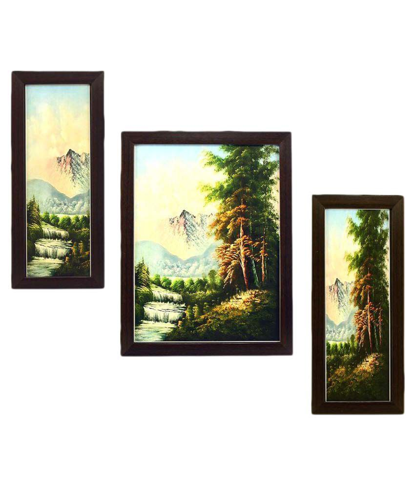 Indianara MDF Painting With Frame Set of 3