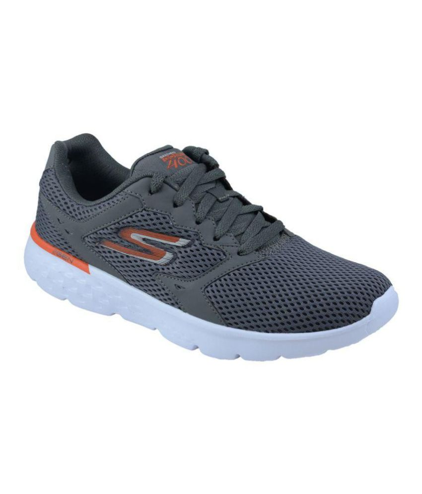 Semejanza síndrome Describir  Skechers Go Run 400 Gray Running Shoes - Buy Skechers Go Run 400 Gray  Running Shoes Online at Best Prices in India on Snapdeal