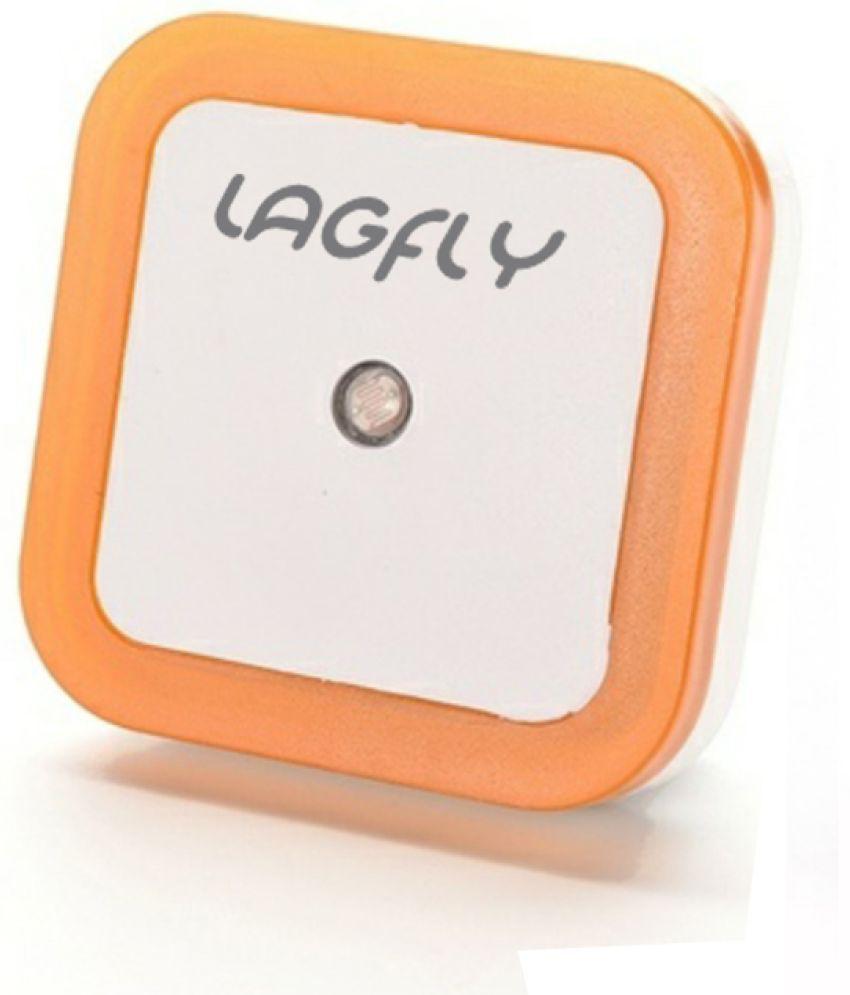 Automatic led energy saving night lamp -  Lagfly Automatic Sensor Control Led Energy Saving Night Lamp Orange