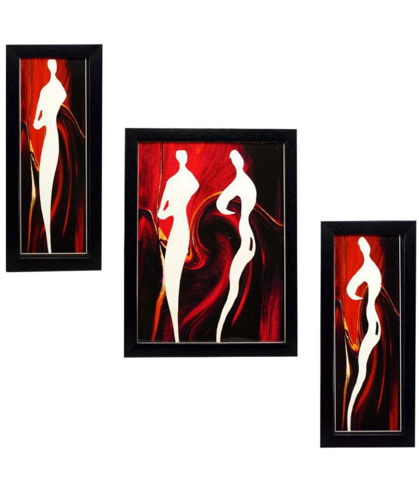 Indianara MDF Painting With Frame Set of 3