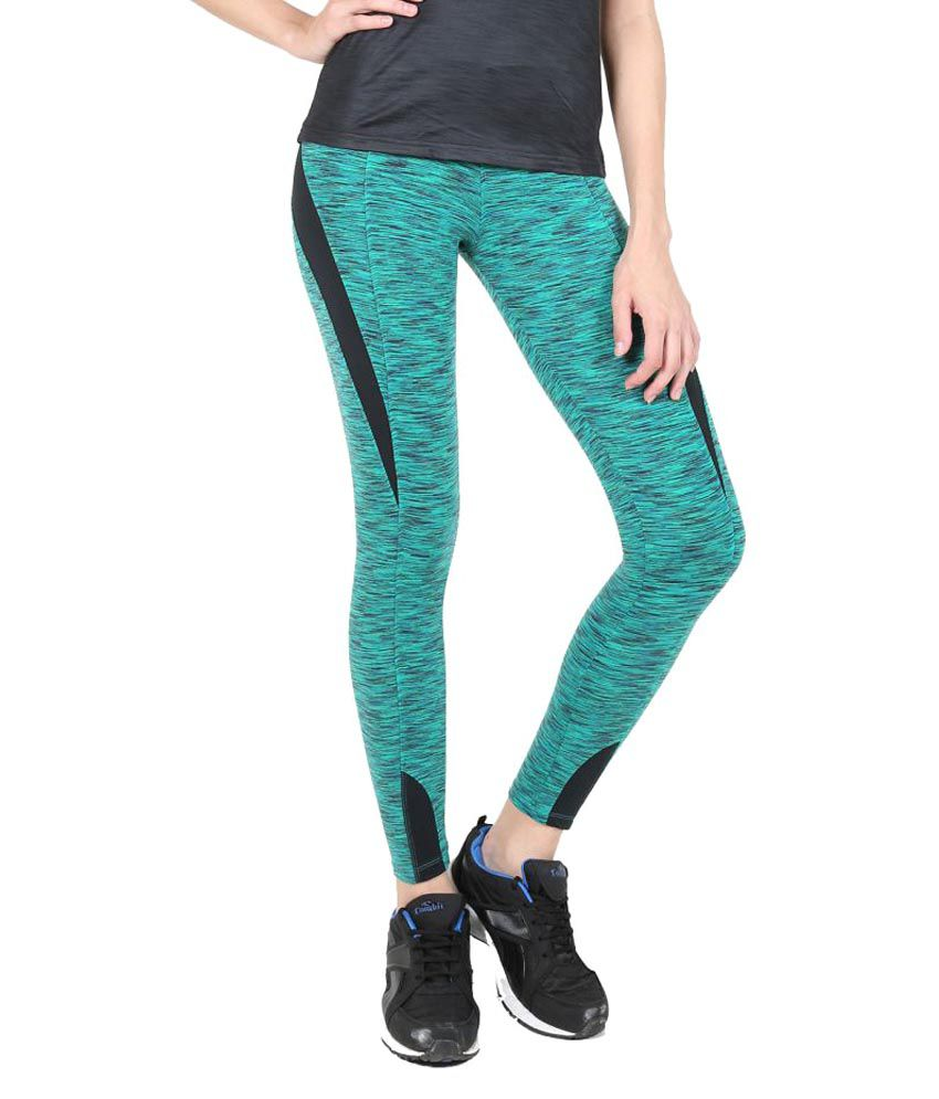 Green Texture Tights