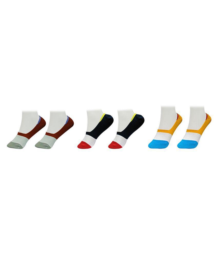 Gold Dust Multi Color Women Footies Socks