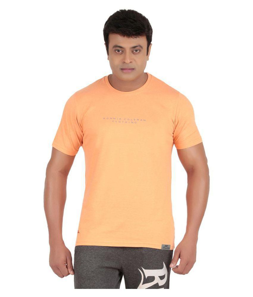 Ronnie Coleman Orange Cotton T Shirt