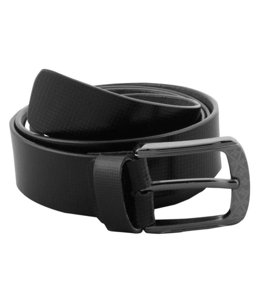 Onlinemaniya Black Leather Formal Belts