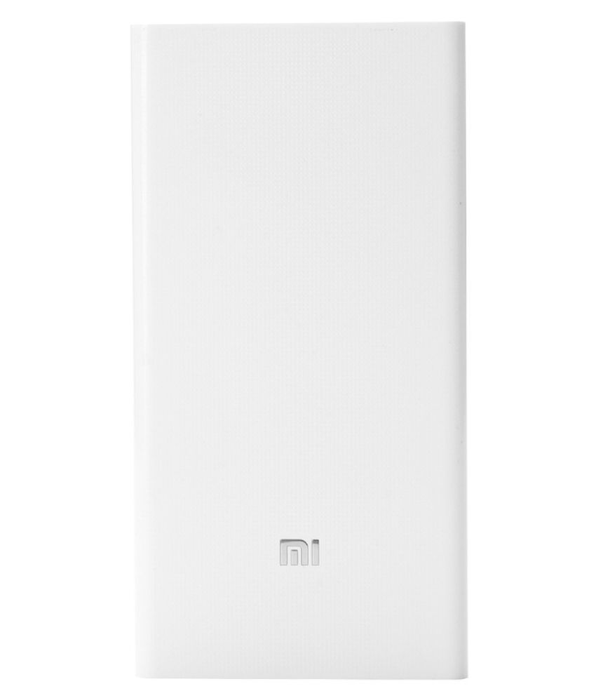 Mi 20000 mAh Power Bank  (White)