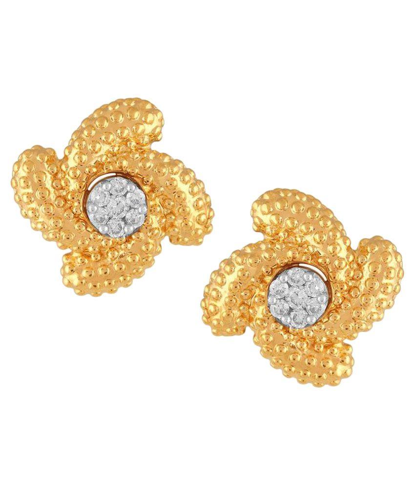 Maya Diamonds 18k BIS Hallmarked Yellow Gold Diamond Studs