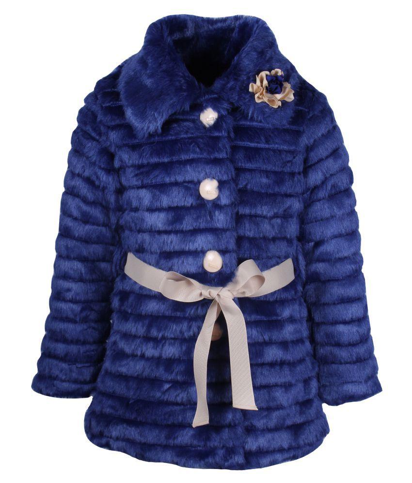 Cutecumber Blue Polyester Winter Coat