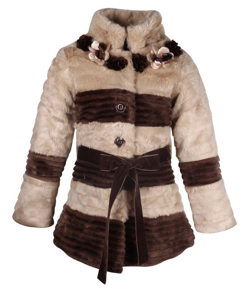 Cutecumber Brown Polyester Coats Single