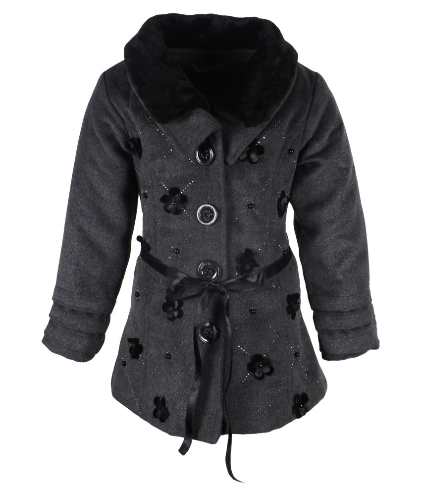 Cutecumber Gray Polyester Winter Jacket