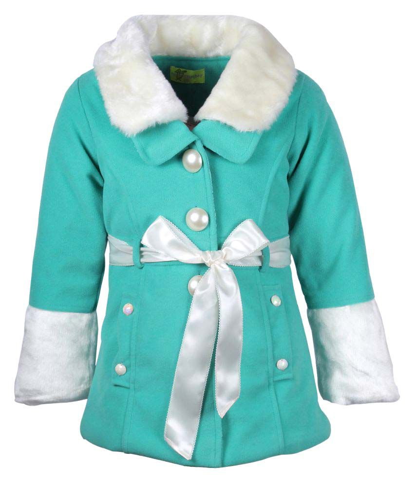 Cutecumber Green Polyester Winter Jacket