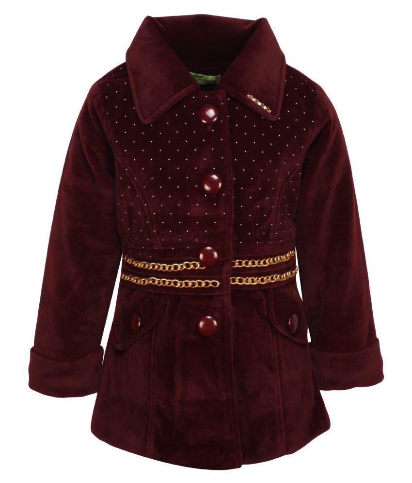 Cutecumber Maroon Polyester Winter Jacket