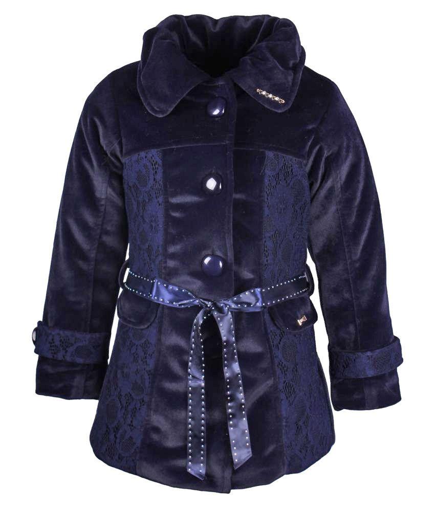 Cutecumber Nevy Polyester Coat