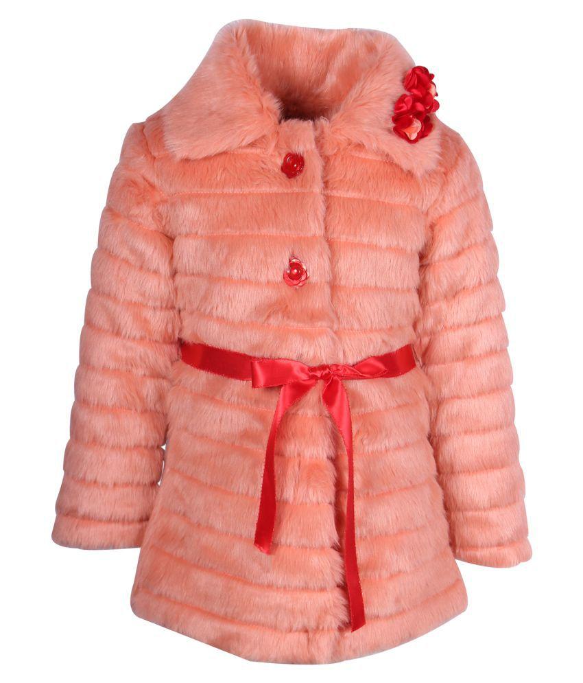 Cutecumber Orange Polyester Coats