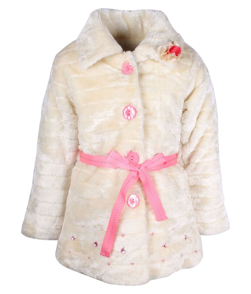 Cutecumber  Partywear Winter  Girls  Cream  Jacket