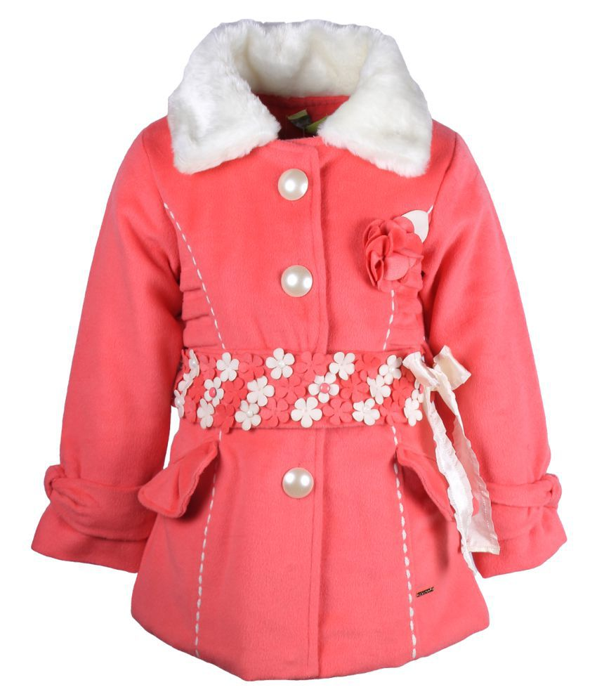 Cutecumber Pink Polyester Coat Single