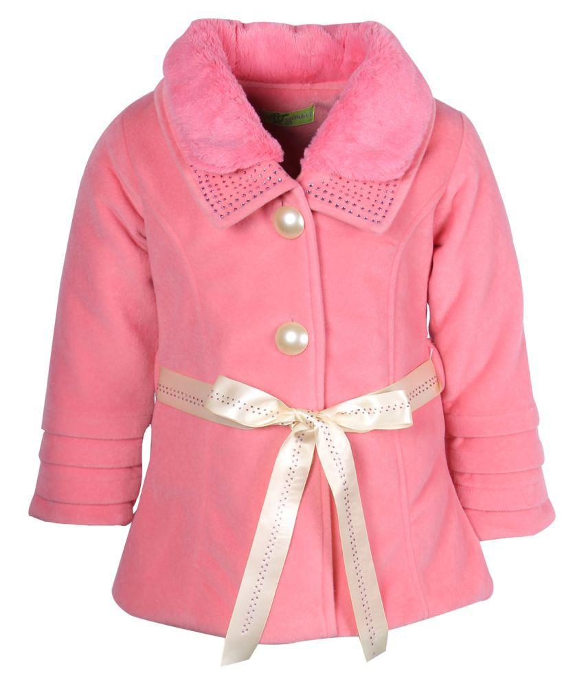 Cutecumber Pink Polyester Coats