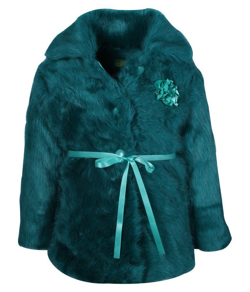 Cutecumber Polyster Green Coat