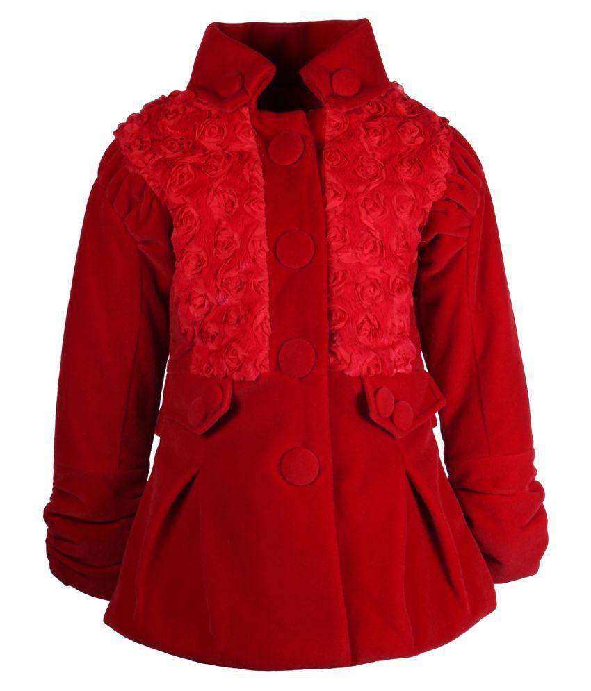 Cutecumber Red Polyester Girls Jacket